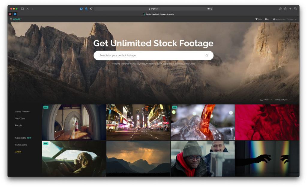 Artgrid Erfahrungen mit der unlimitierten Video Stock Flatrate