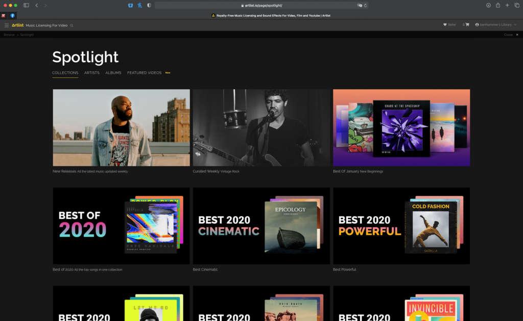 artlist erfahrungen musikplattform spotlight benventures eu blog