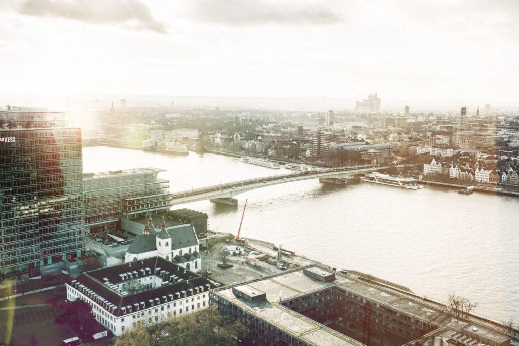 Blick über Köln vom Triangle Tower